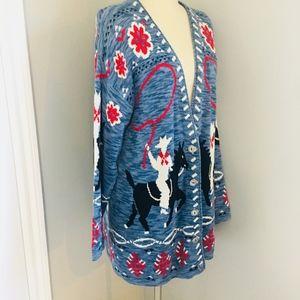 Delia McKain Vintage sweater coat western rodeo